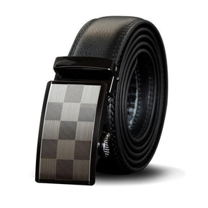 Dixon Leather Checkered Buckle Belt