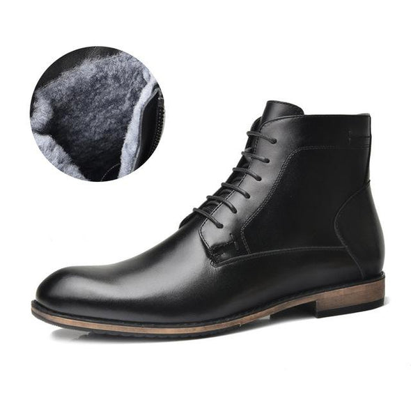 TAIMA Brand  new arrival  Autumn and Winter Fashion Warm Men Boots Business Casual  Boots For Men Black#RU0021&RU0022