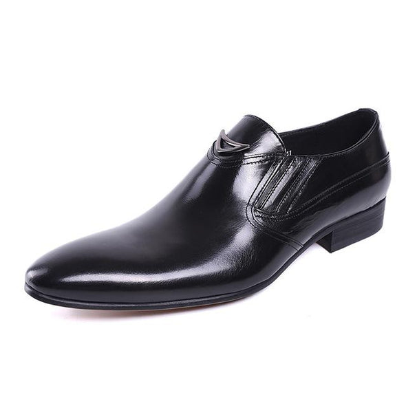 Dixon Leather Stacked Heel Styled Dress Shoes