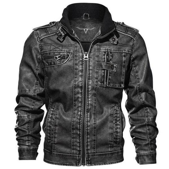 Dixon Leather Crow Biker Jacket