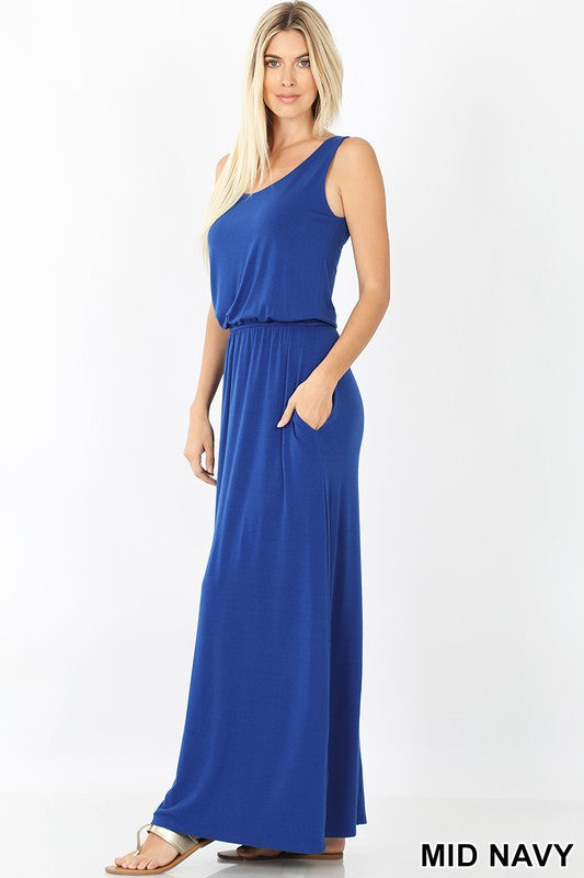 BUBBLE TOP MAXI DRESS-CURVY
