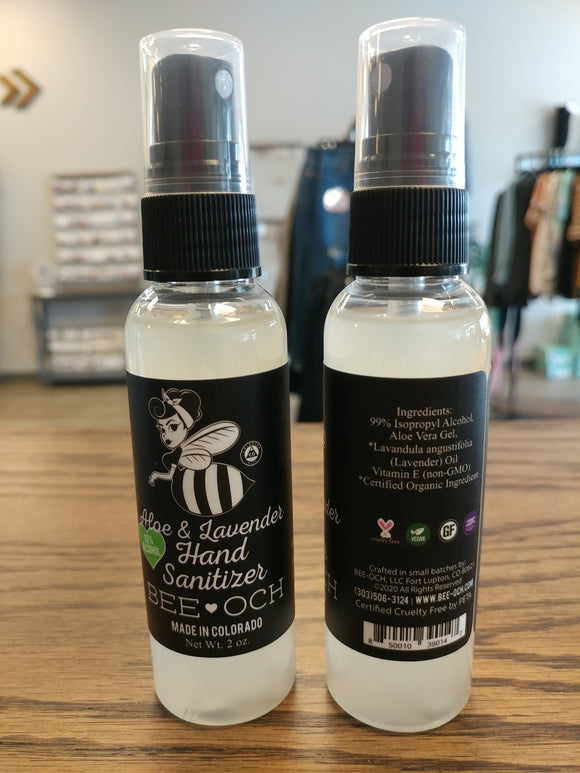 Bee-och Organic Lavender & Aloe Hand Sanitizer Spray