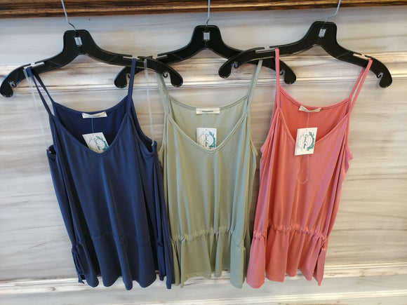 SL v-neck tank w/adjustable side