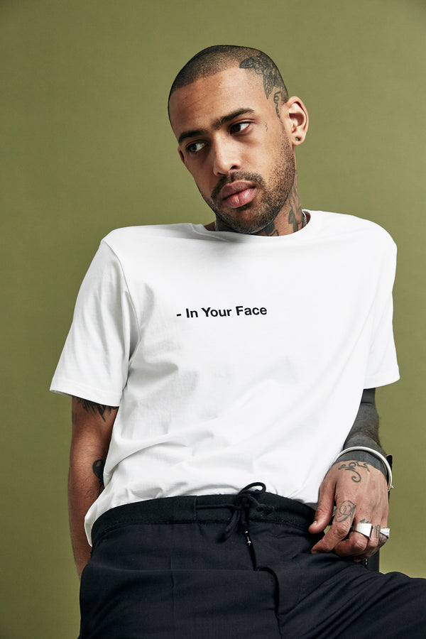 White 'In Your Face' T-Shirt