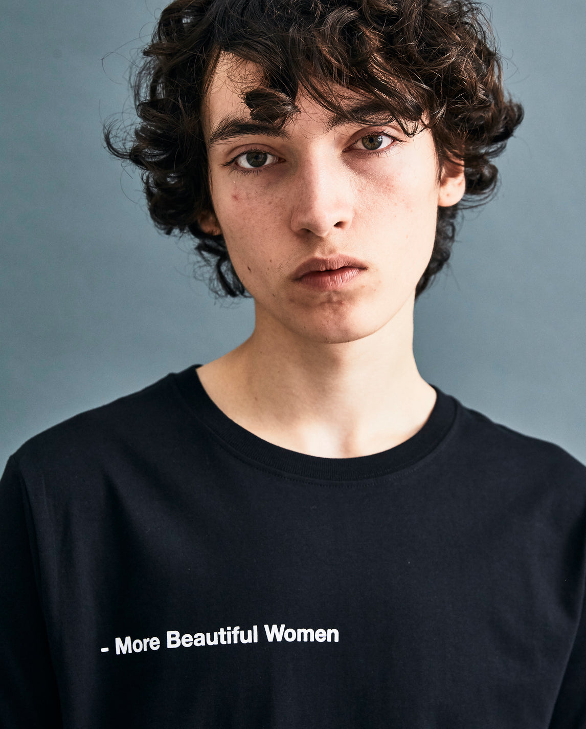 Black 'More Beautiful Women' T-shirt