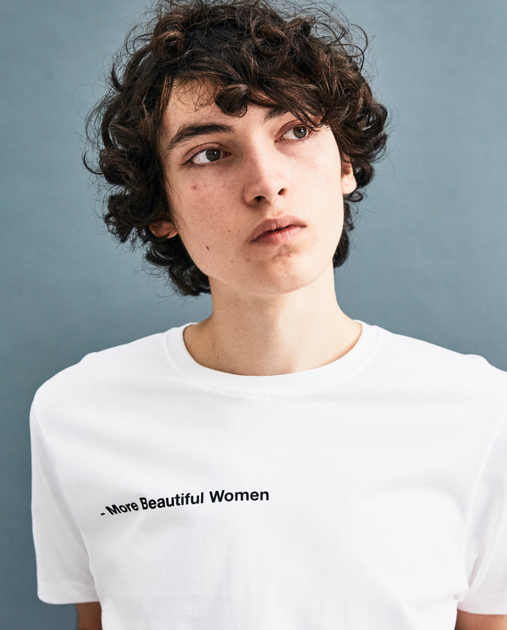 White 'More Beautiful Women' T-shirt