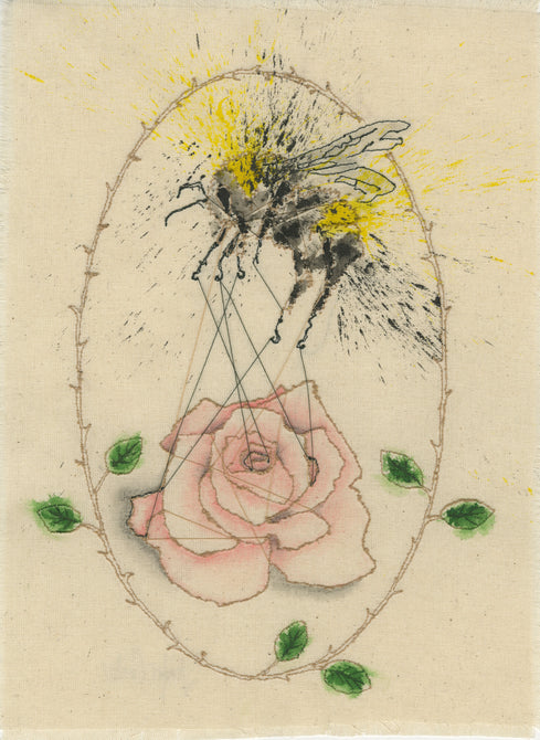 Bee With Rose
