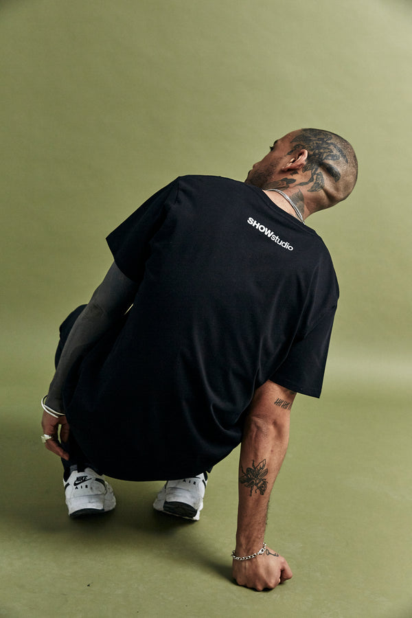 Black 'Sportswear' T-Shirt