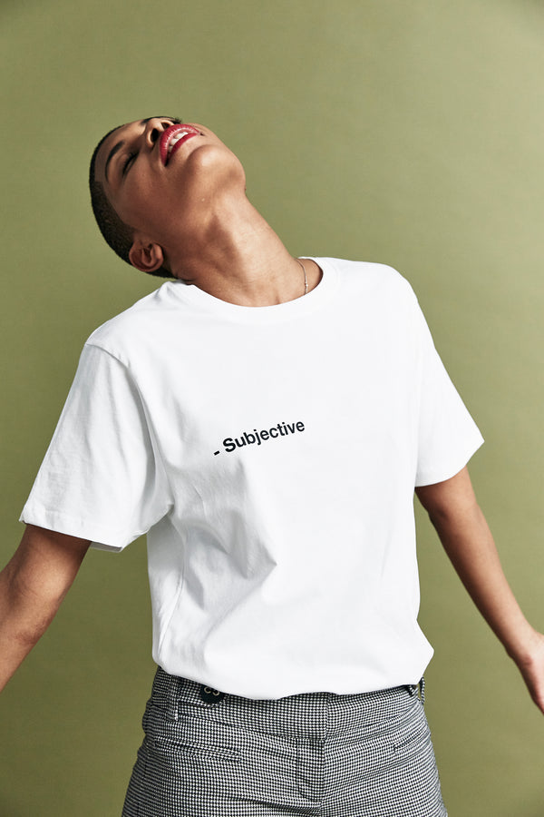 White 'Subjective' T-shirt