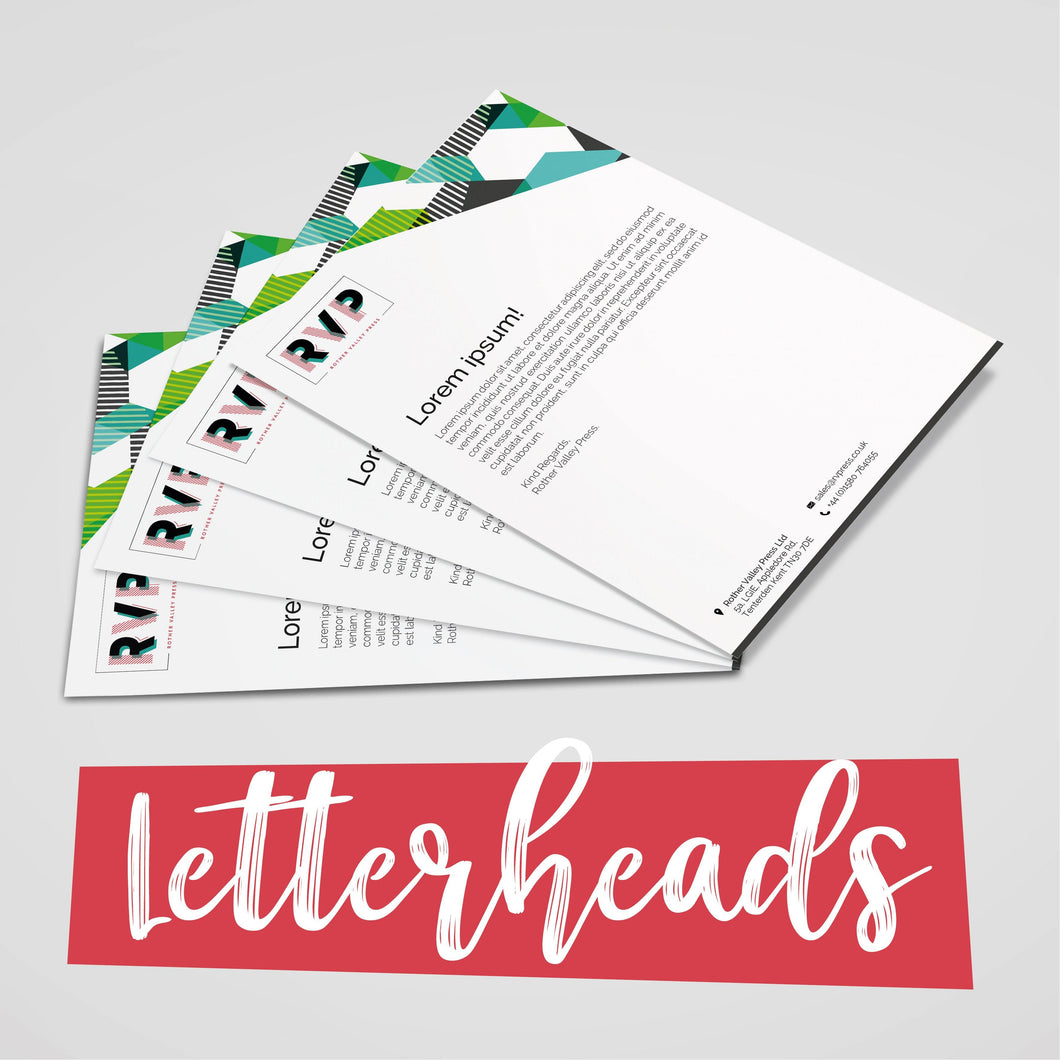 Letterheads - Rother Valley Press
