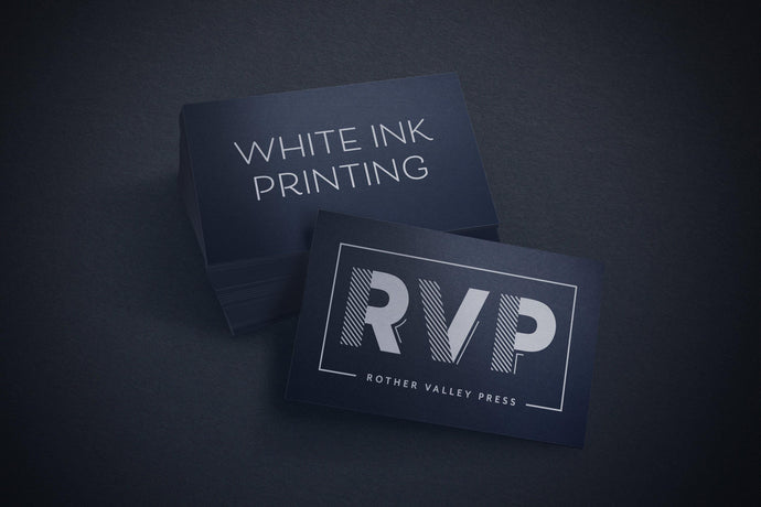 (WHITE INK) Business Cards