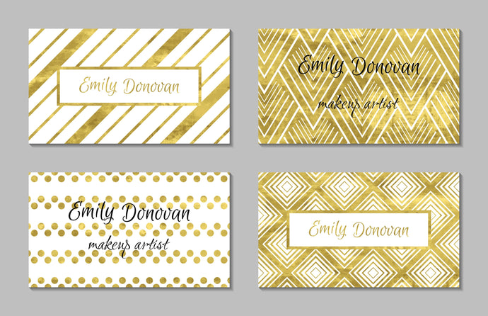 Foiled Business Cards