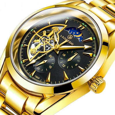 The Swiss LAOGESHI Top Luxury Business Waterproof Fully automatic mechanical watch