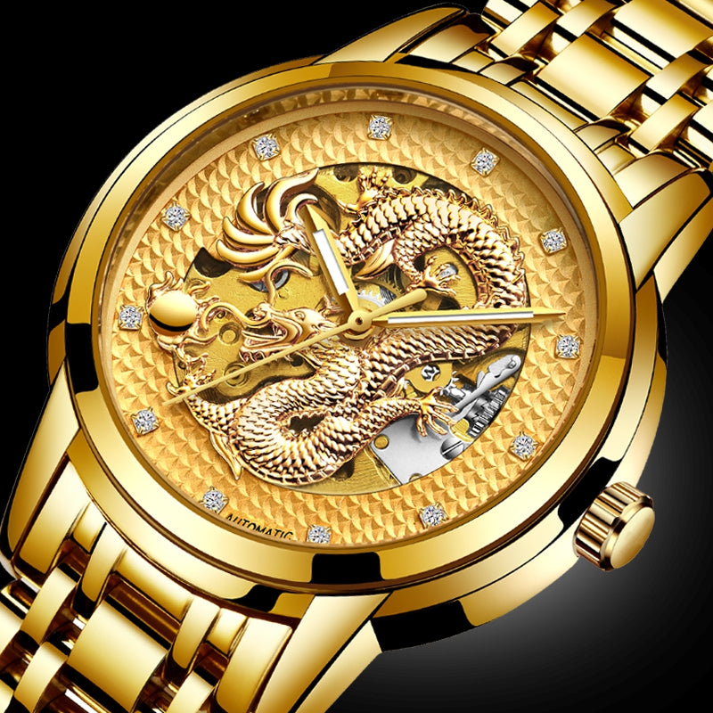 LIGE Men Automatic Mechanical Watch