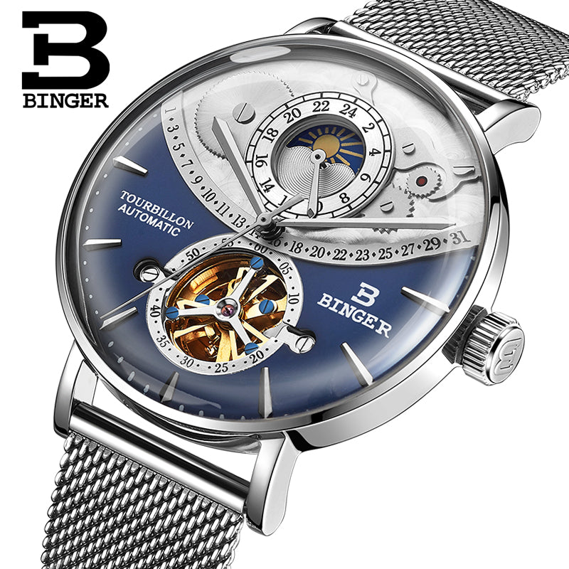 BINGER Sapphire Mechanical Men'S Watch
