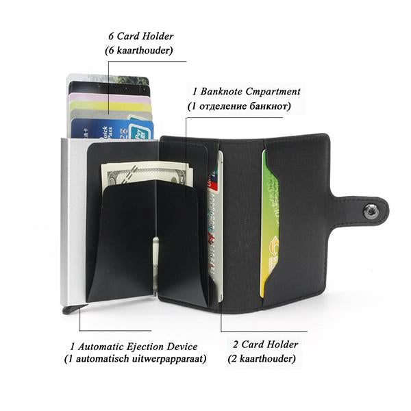Automatic pop-up RFID anti-magnetic card package