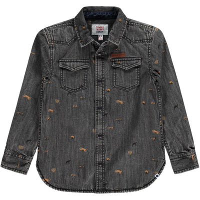 Vinn Denim Shirt Jongens Mid