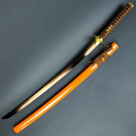 Musha Gold Warrior Damascus Katana