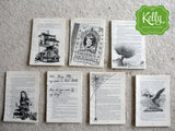 Harry Potter and the Chamber of Secrets upcycled book page art By KellyDesignCompany