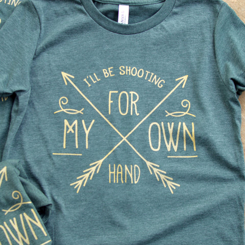 I'll be shooting for my own hand! - Kids Merida Brave triblend tee, Youth Unisex shirt