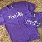 Purple Reign - Cherokee Bluff Spiritwear tee -  Purple Rush Next Level unisex CVC  shortsleeve shirt
