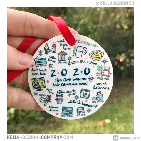 2020 Quarantine Ornament - Christmas Funny Keepsake