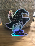 Professor McGonagall - 100% that witch: Holographic sticker