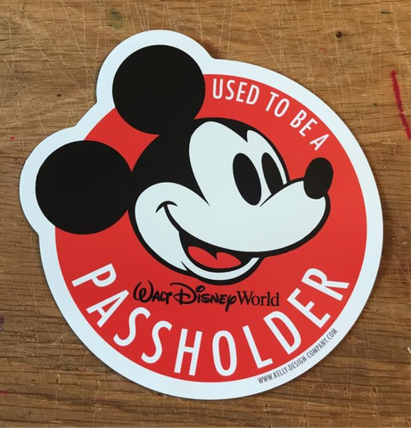 Used To Be A Passholder magnetic - WDW inspired magnet by Kelly Design Company