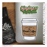 I just want to drink coffee and go to Disney World - 3in Sticker by Kelly Design Company
