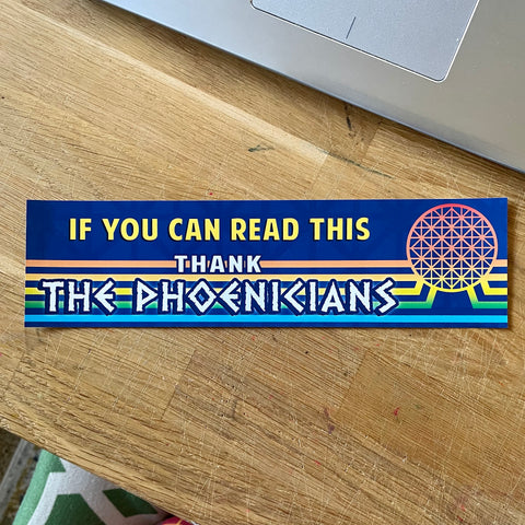 If you can read this, thank the Phoenicians - Epcot Spaceship Earth inspired by Kelly Design Company