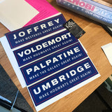 Umbridge: Make Hogwarts Great Again - Harry Potter election sticker or magnet