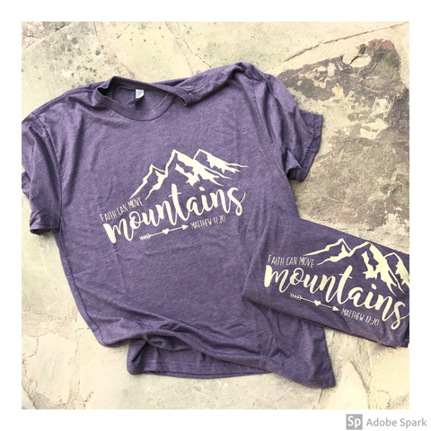 Faith Can Move Mountains triblend tee - by Kelly Design Company