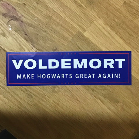 Voldemort: Make Hogwarts Great Again - Harry Potter election sticker magnet