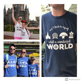 What A Wonderful World WDW Parks Disney tee by Kelly Design Company