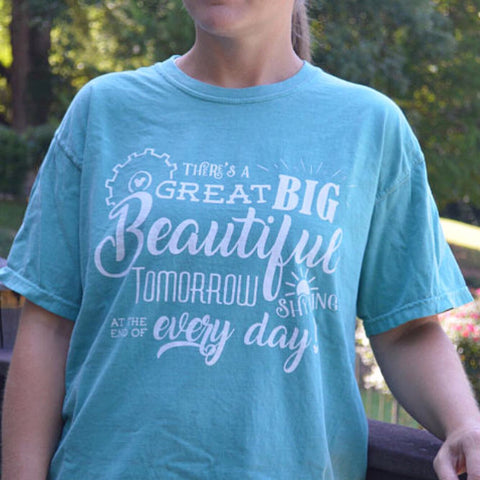 Great Big Beautiful Tomorrow tee -  Comfort Colors unisex cotton shirt