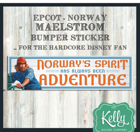 Maelstrom - Norway Epcot Pavilion inspired sticker or magnet