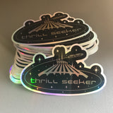 Thrill Seeker - Space Mountain: Holographic sticker