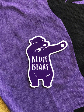 Bluff Bears 'dabbing bear' sticker