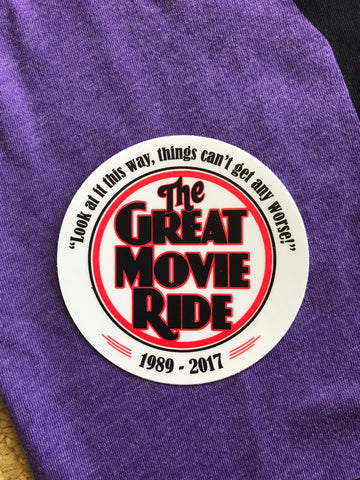 """The Great Movie Ride - 1989-2017"" sticker"