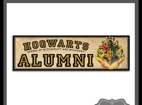 """Hogwarts Alumni"" - Harry Potter sticker"