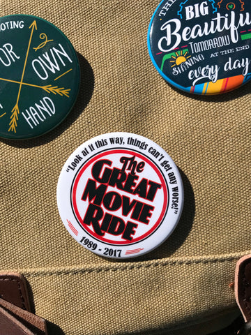 The Great Movie Ride 1989-2017 - Pinback Button