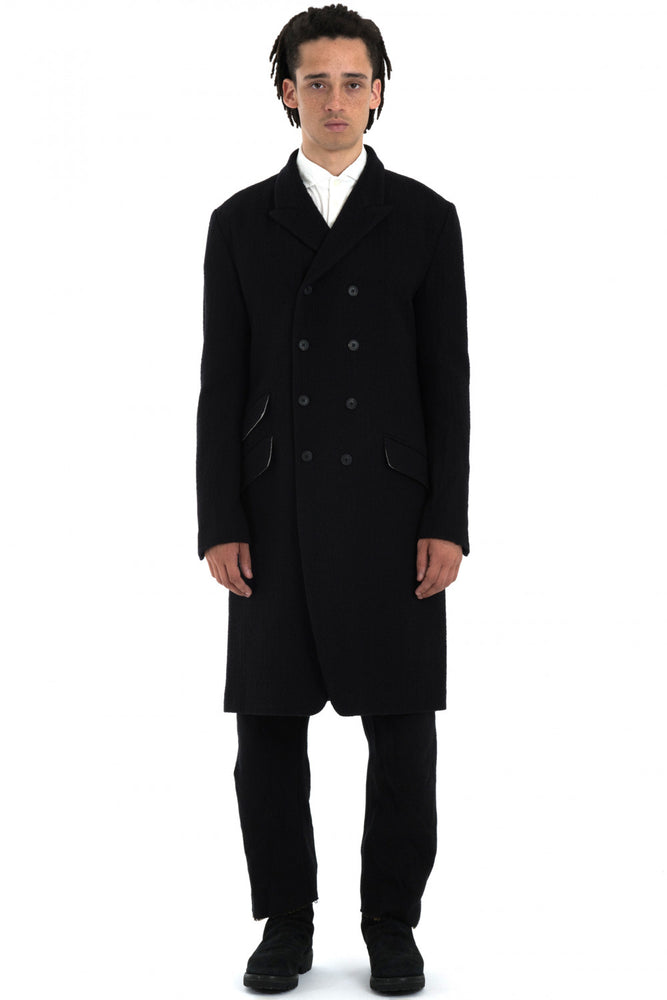 Forme D'Expression AW18 Black DB Reefer Coat