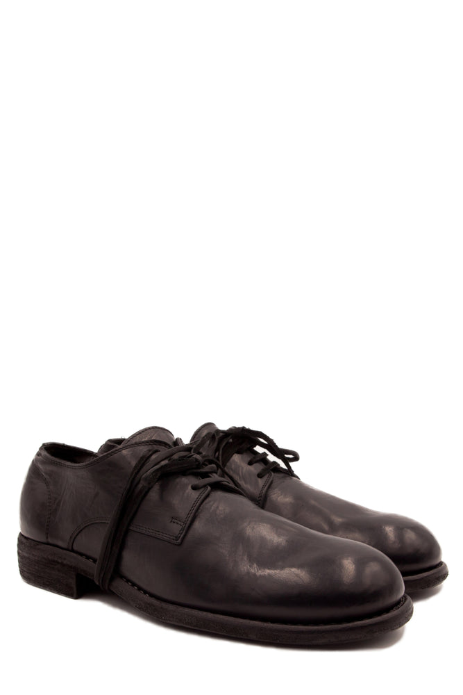 Guidi 992 Black Classic Derby Shoes