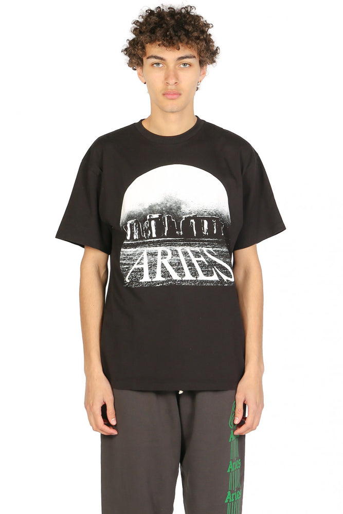 Aries Moonhenge T-shirt Black