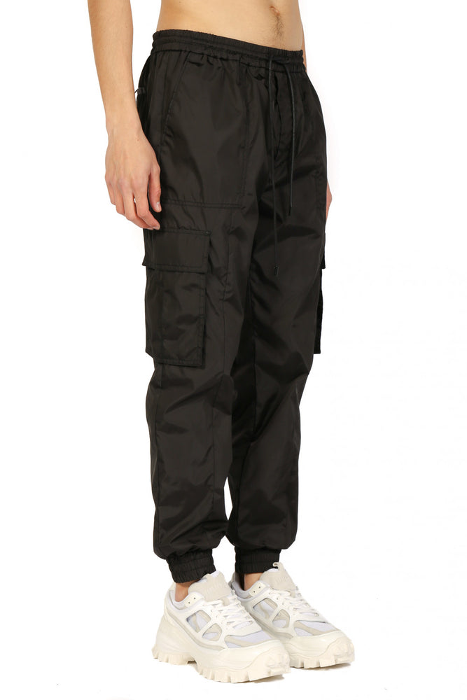 JuunJ Black Cargo Jogging Pants