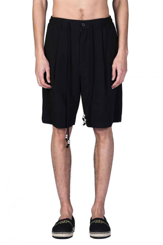 Christian Dada Black String Waist Shorts