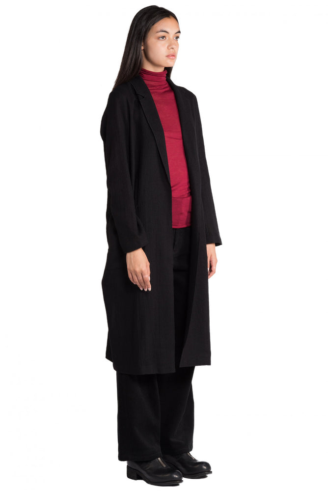 Greyyang Black Wool Coat