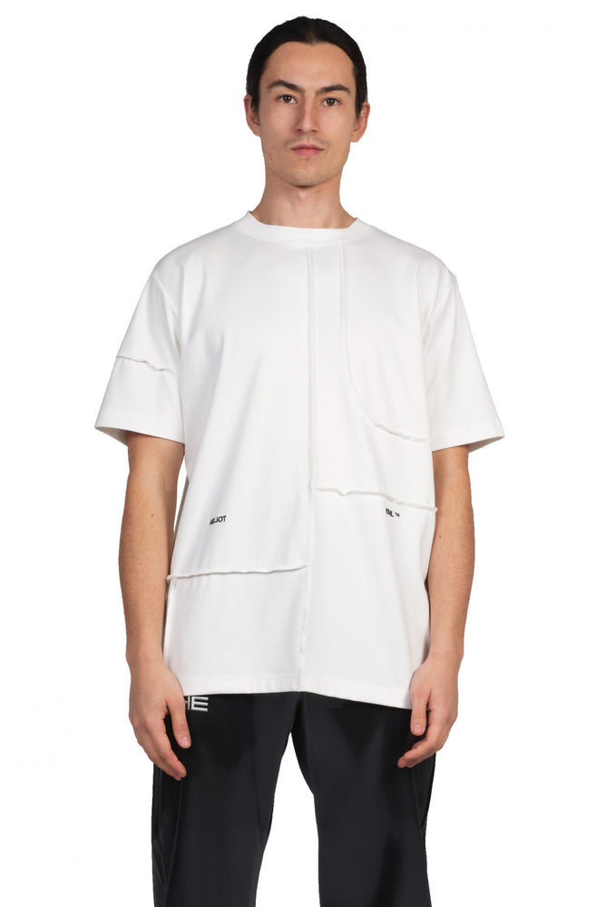 Heliot Emil Off-White Cut-Up T-Shirt