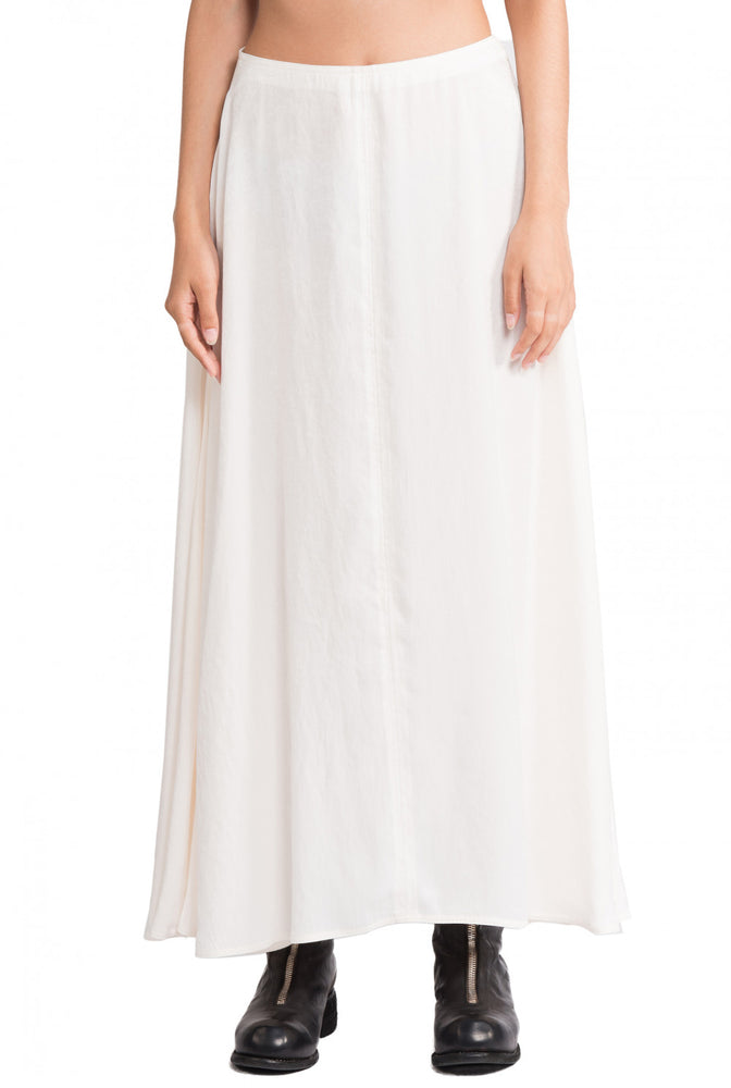 Greyyang Ivory Long Flare Skirt