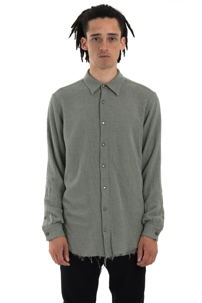 Forme D'Expression AW18 Clay Grey Juxtaposed Shirt